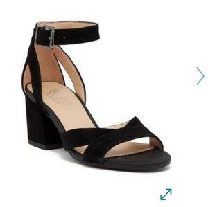 NWOT Franco Sarto Suede Black Strap Sandals